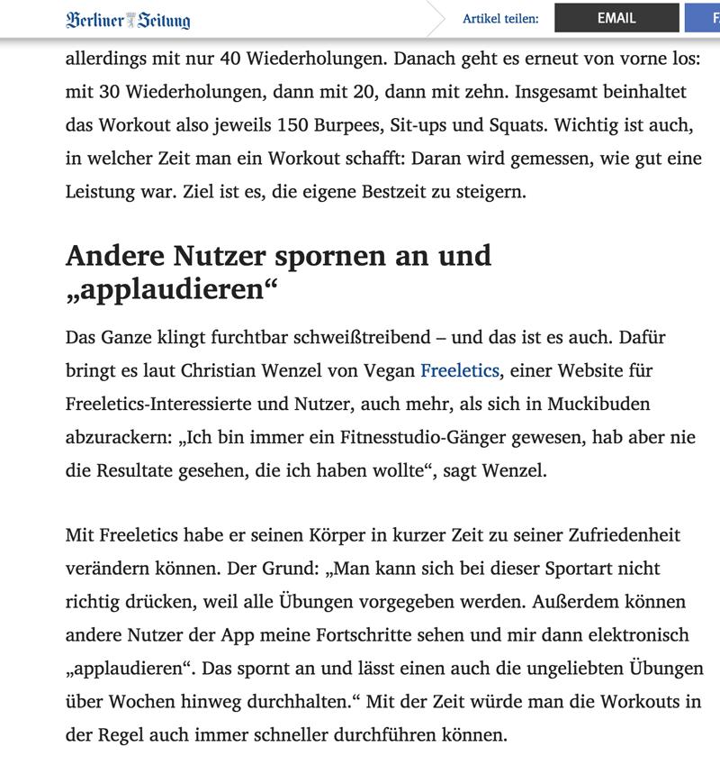 Artikel Berliner Zeitung