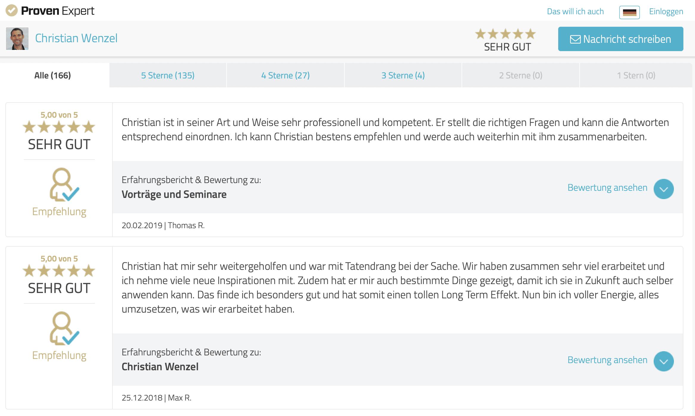 Christian-Wenzel-Bewertung-ProvenExpert